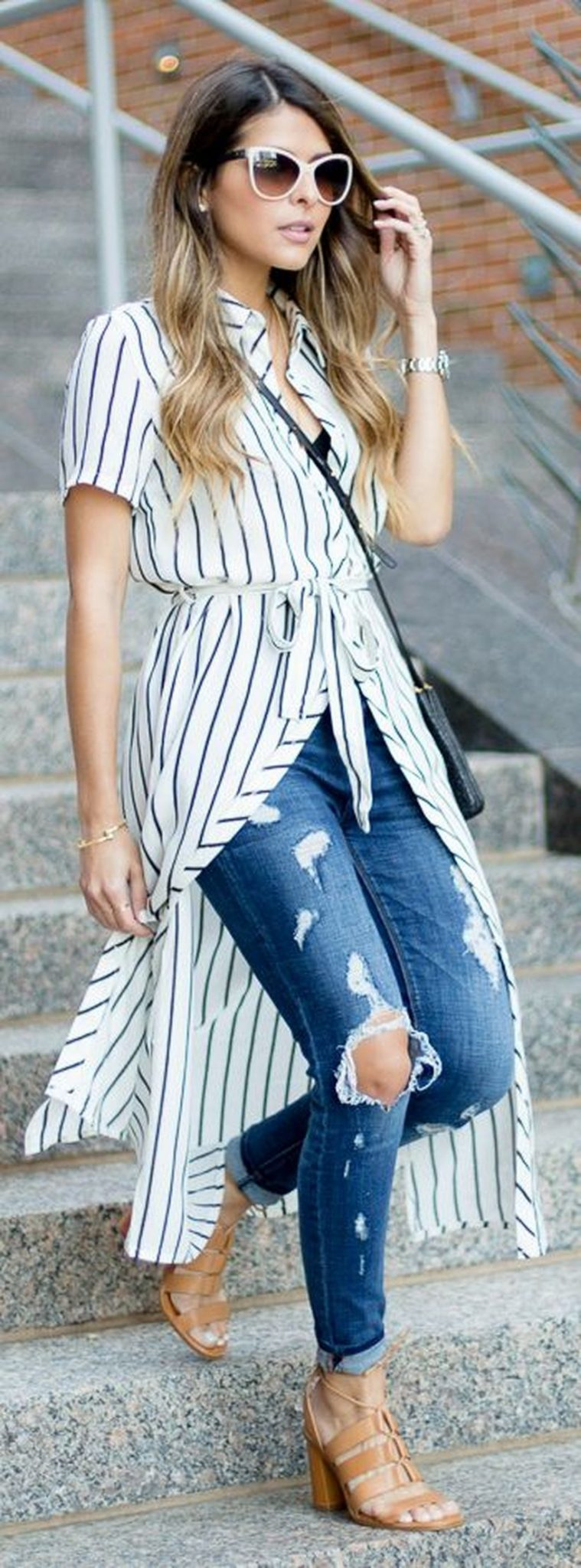 Marvelous striped shirtdresses outfits ideas 49