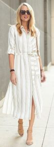Marvelous striped shirtdresses outfits ideas 62