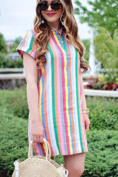 Marvelous striped shirtdresses outfits ideas 65