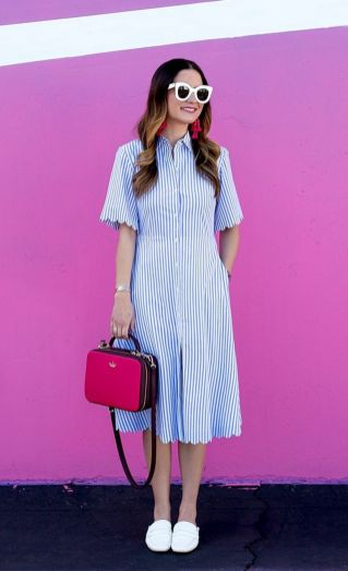 Marvelous striped shirtdresses outfits ideas 73