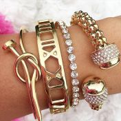 Stacked arm candies jewelry ideas 117