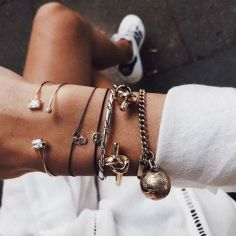 Stacked arm candies jewelry ideas 120