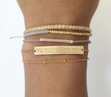 Stacked arm candies jewelry ideas 34