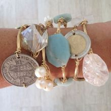 Stacked arm candies jewelry ideas 35