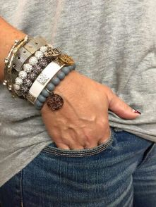 Stacked arm candies jewelry ideas 51