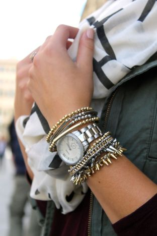 Stacked arm candies jewelry ideas 70