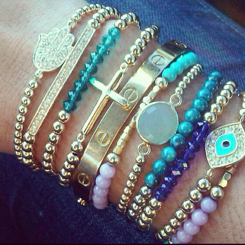 Stacked arm candies jewelry ideas 86