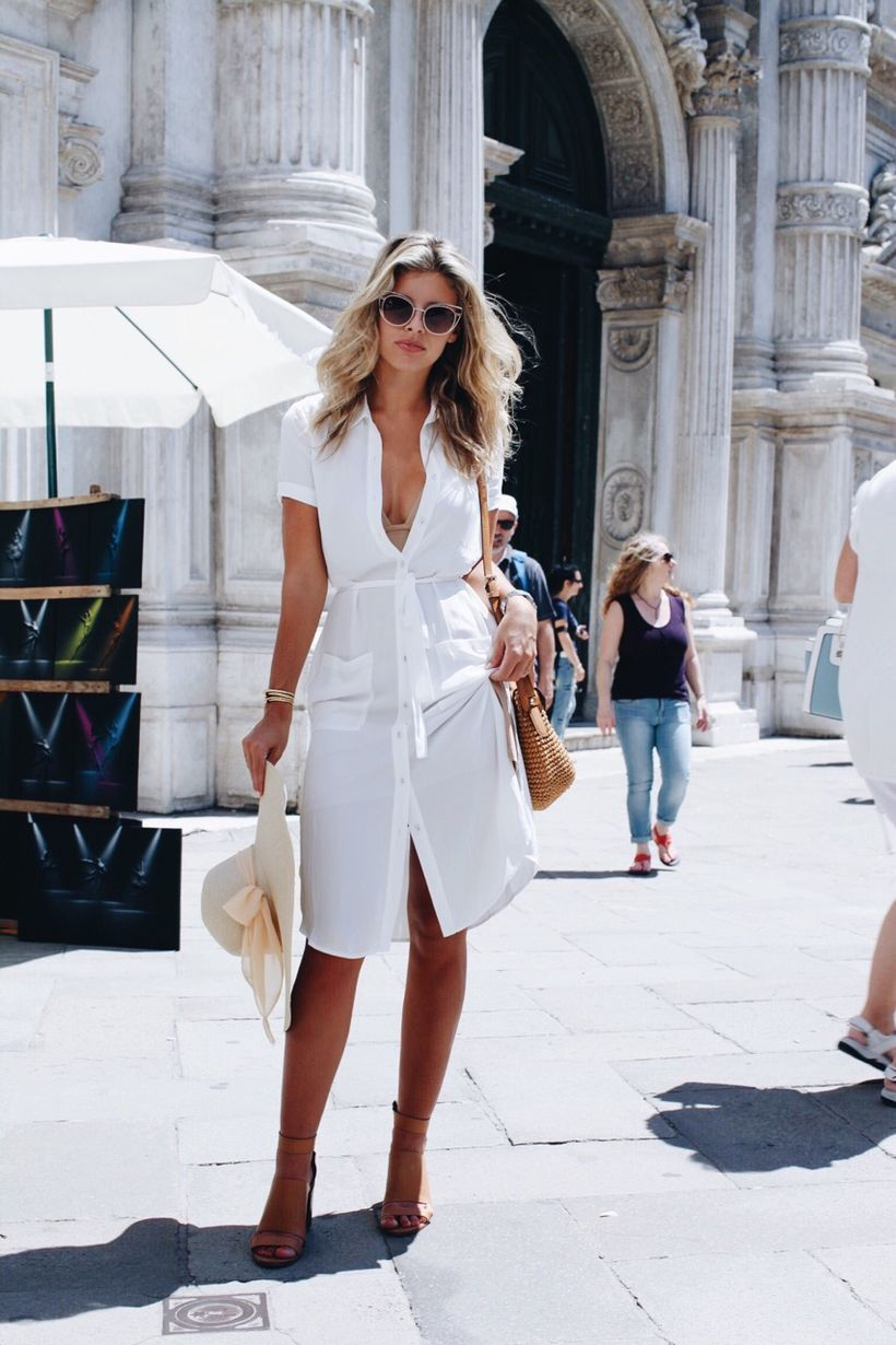 Stunning white shirtdresses outfits 12