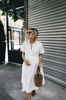 Stunning white shirtdresses outfits 18