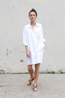 Stunning white shirtdresses outfits 19