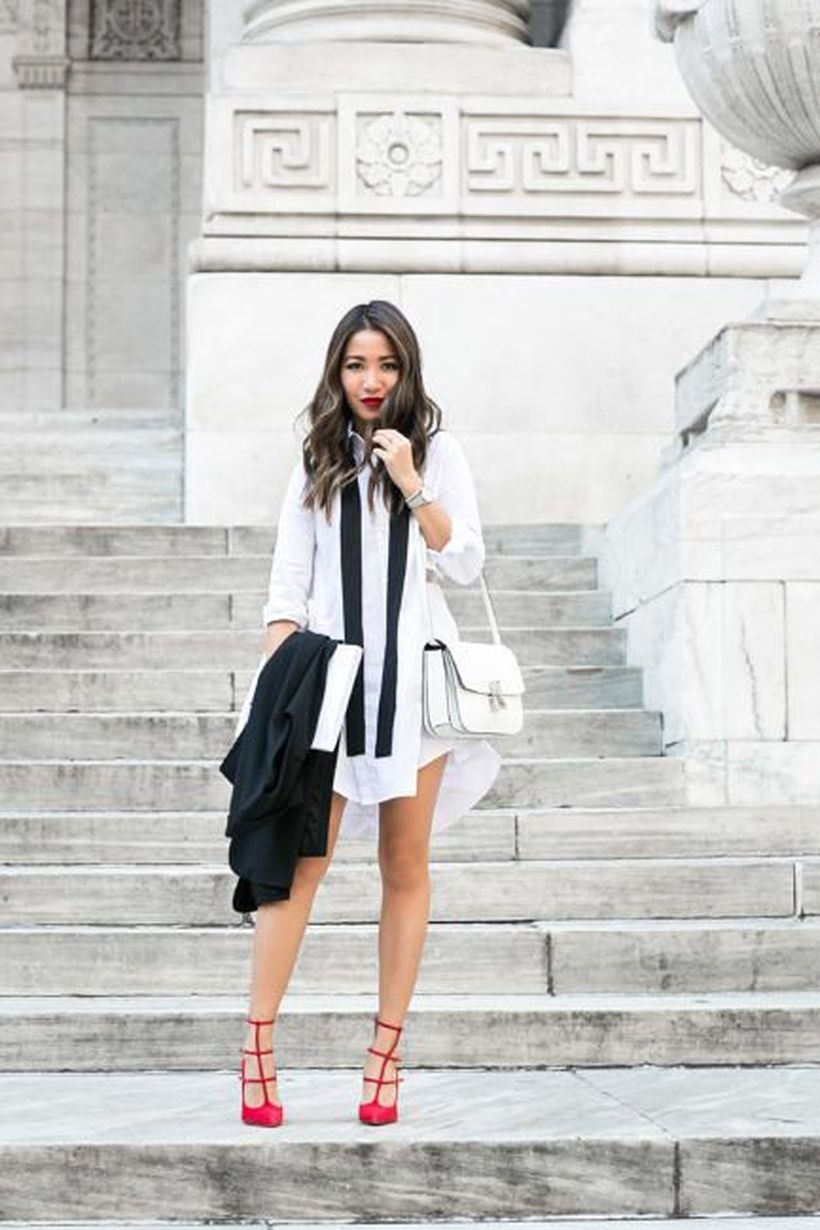 Stunning white shirtdresses outfits 22