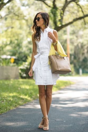 Stunning white shirtdresses outfits 7