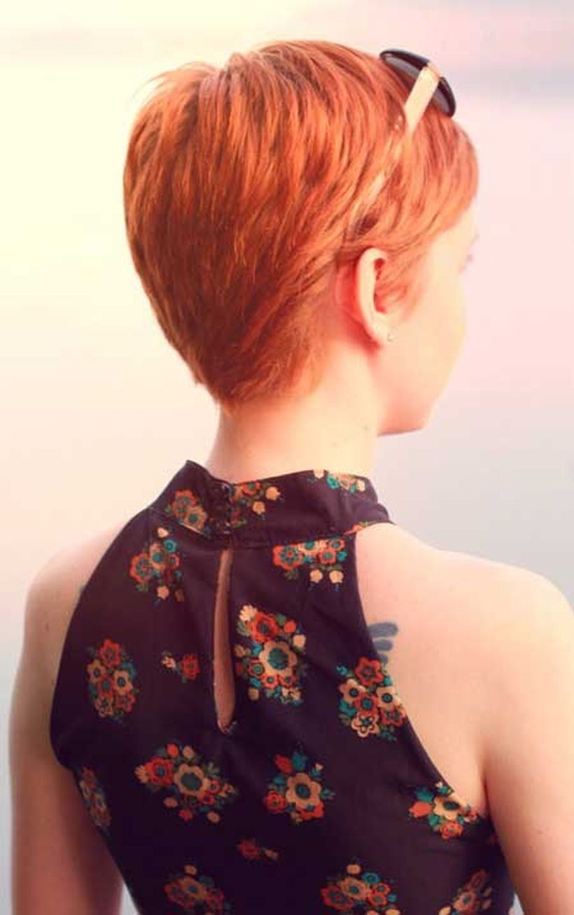 Stylist back view short pixie haircut hairstyle ideas 51