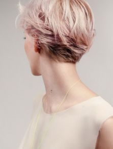 Stylist back view short pixie haircut hairstyle ideas 9