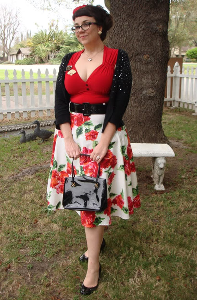 Vintage plus size rockabilly fashion style outfits ideas 105