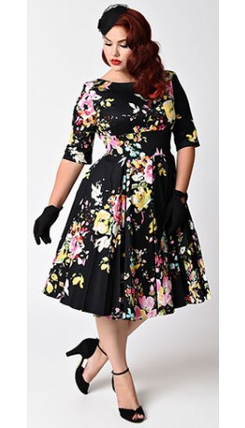 Vintage plus size rockabilly fashion style outfits ideas 11