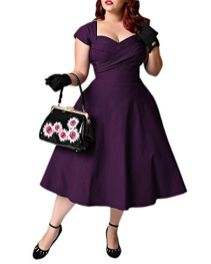 Vintage plus size rockabilly fashion style outfits ideas 12