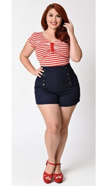 Vintage plus size rockabilly fashion style outfits ideas 30
