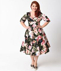 Vintage plus size rockabilly fashion style outfits ideas 4