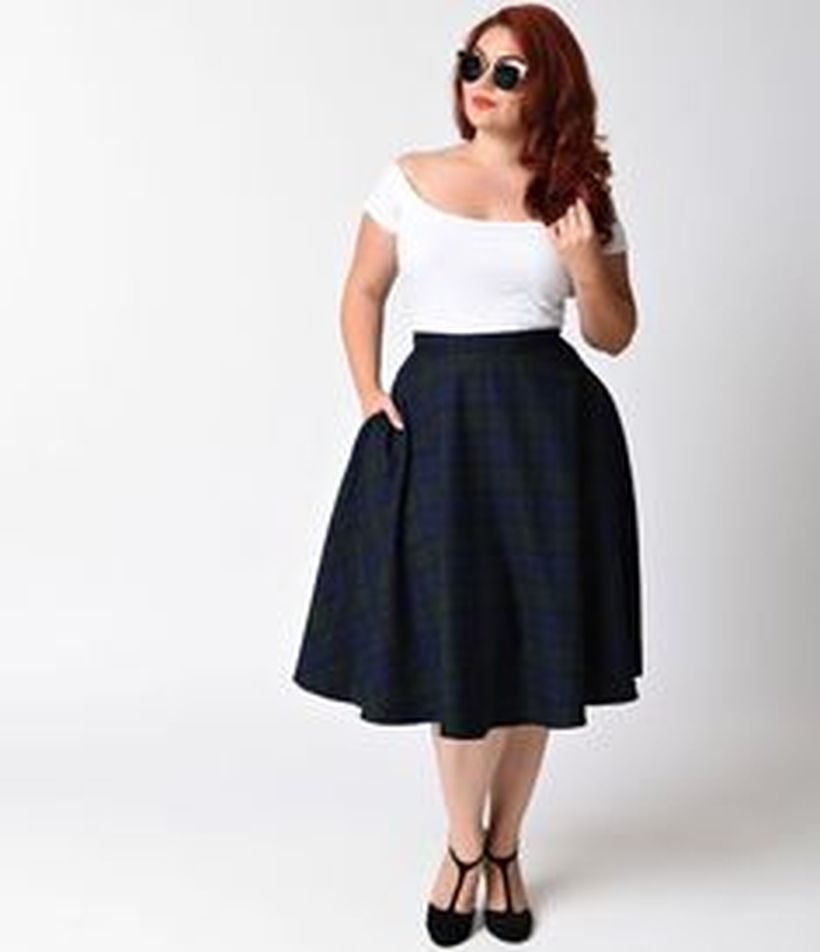 Vintage plus size rockabilly fashion style outfits ideas 44