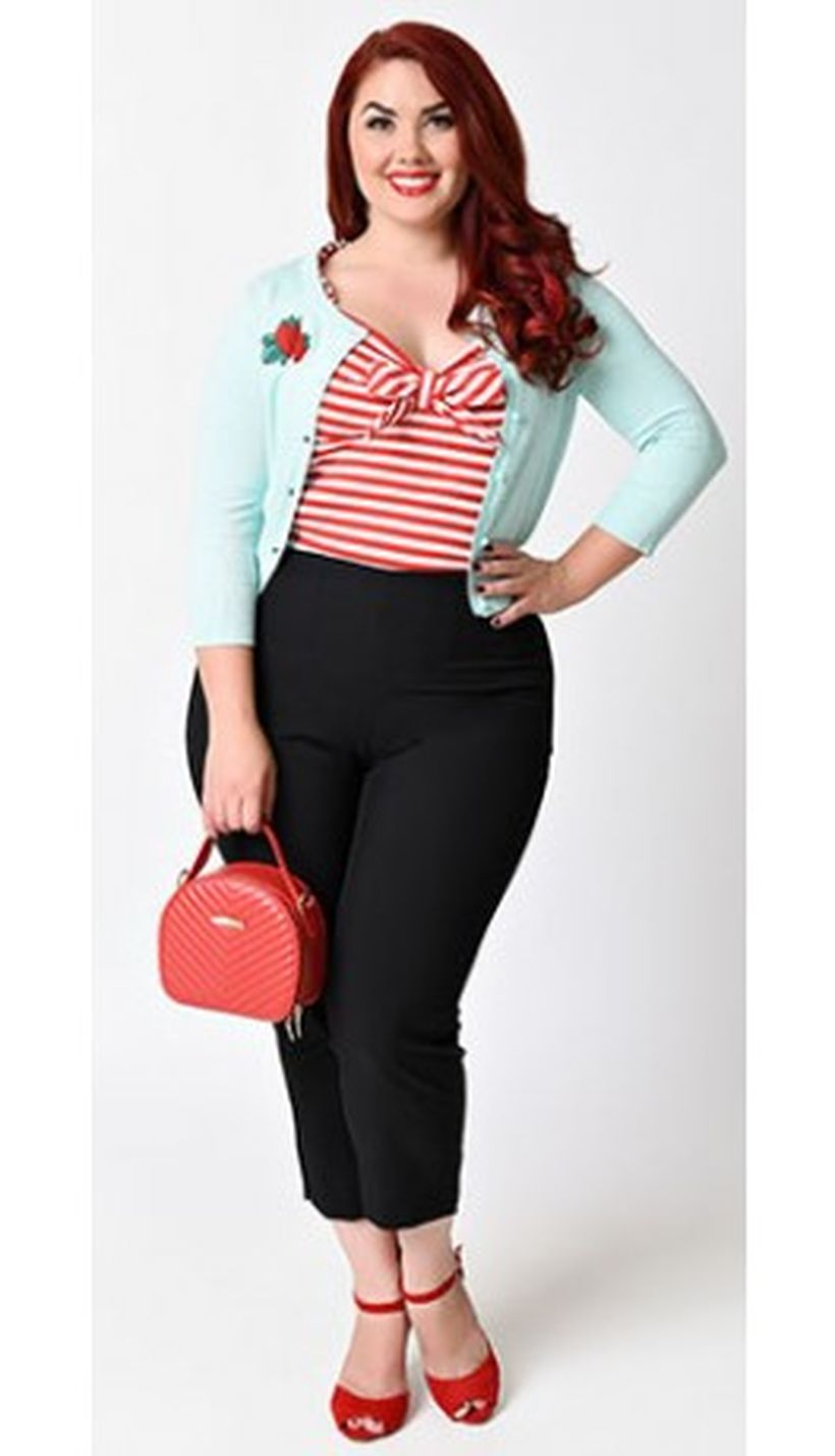 Vintage plus size rockabilly fashion style outfits ideas 68