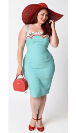 Vintage plus size rockabilly fashion style outfits ideas 77