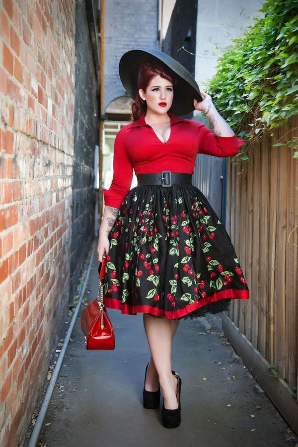 Vintage Size Rockabilly Fashion Style Outfits Ideas