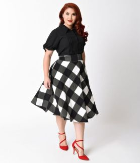 Vintage plus size rockabilly fashion style outfits ideas 89