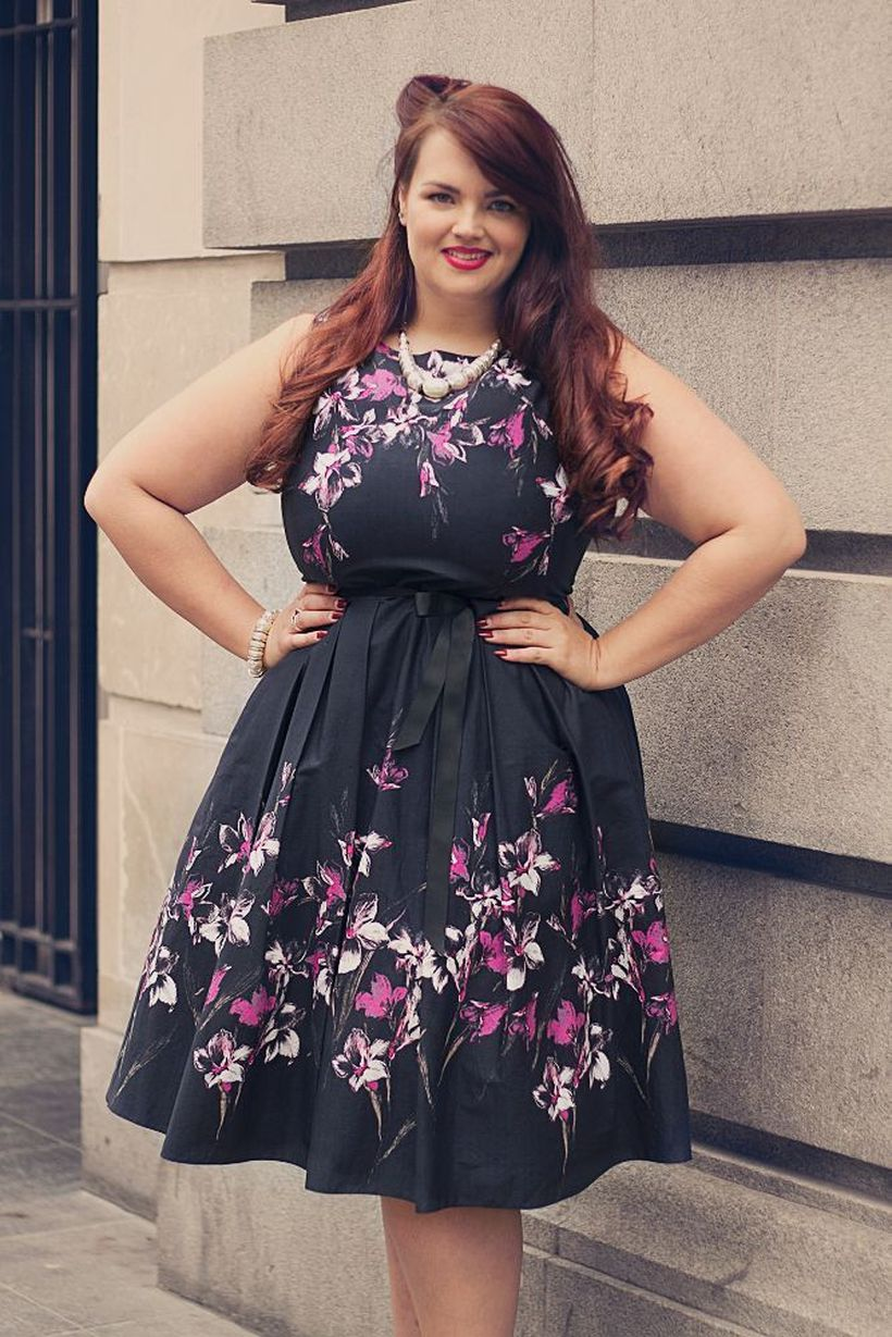 Vintage plus size rockabilly fashion style outfits ideas 9