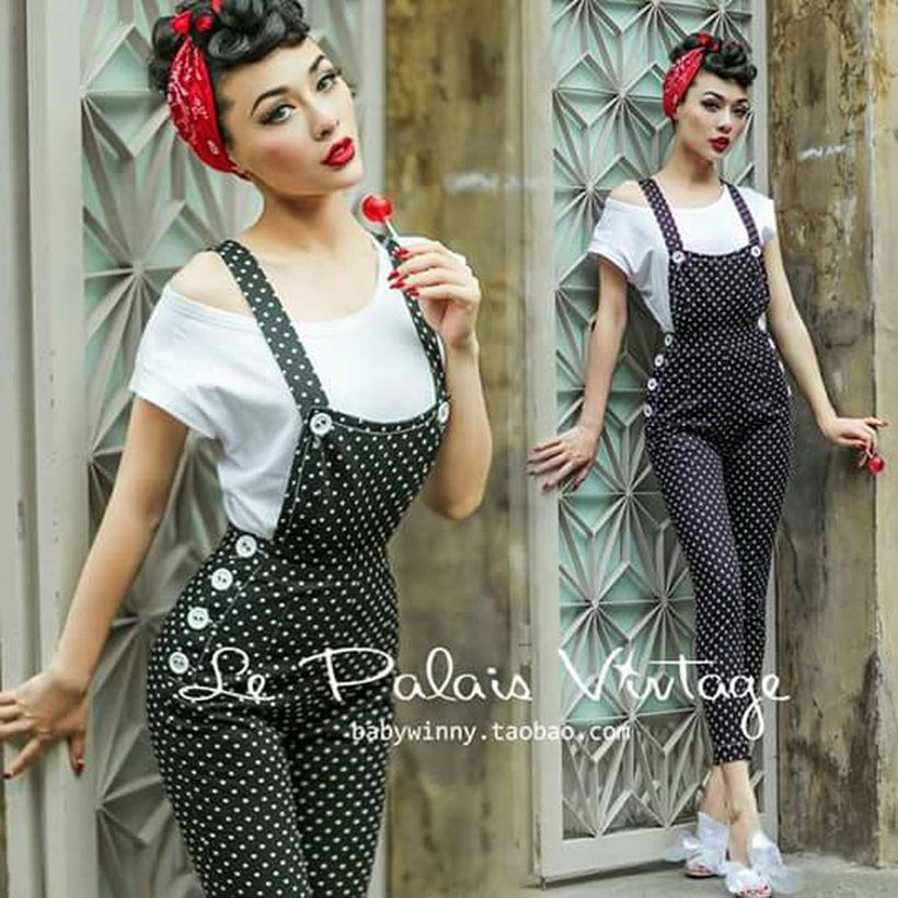 Vintage rockabilly fashion style outfits 33