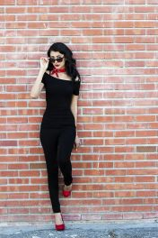 Vintage rockabilly fashion style outfits 34