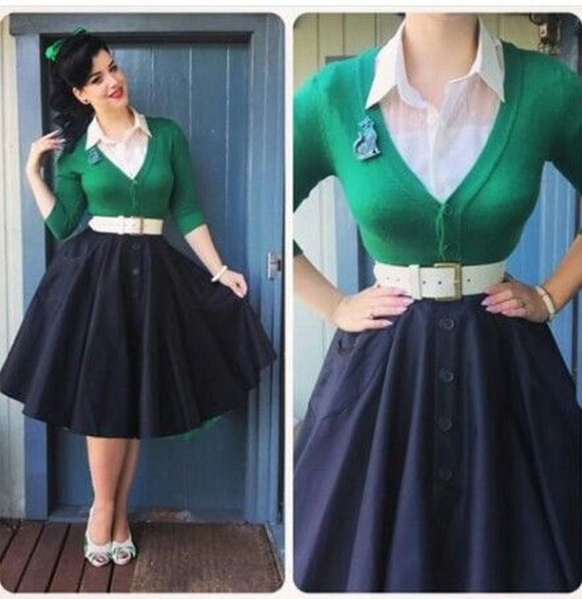 Vintage rockabilly fashion style outfits 39