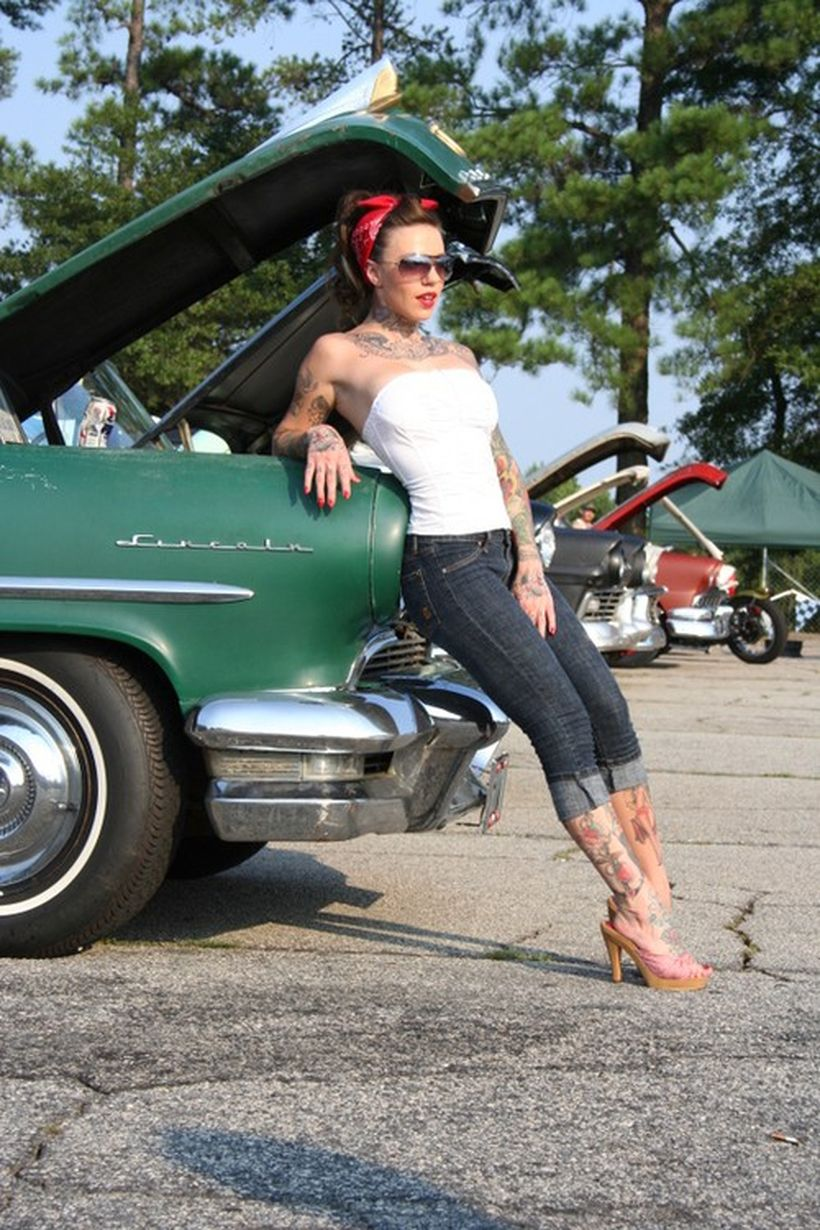 Vintage rockabilly fashion style outfits 46