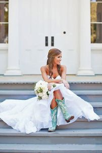 Vintage wedding outfit with country boots 5