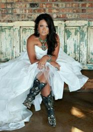 Vintage wedding outfit with country boots 62