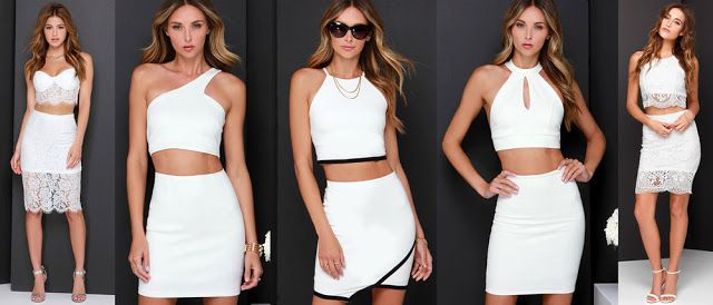 White two piece outfits featured