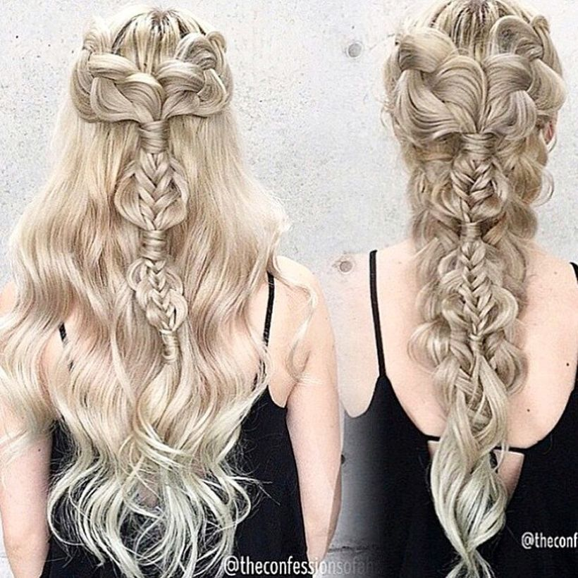 Amazing khaleesi game of thrones hairstyle ideas 11