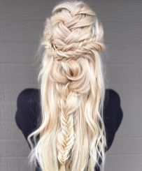 Amazing khaleesi game of thrones hairstyle ideas 23