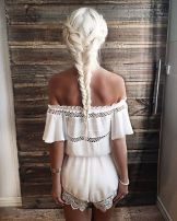 Amazing khaleesi game of thrones hairstyle ideas 49