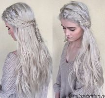 Amazing khaleesi game of thrones hairstyle ideas 51
