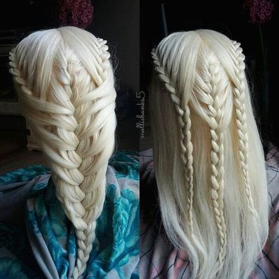 Amazing khaleesi game of thrones hairstyle ideas 53