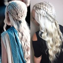 Amazing khaleesi game of thrones hairstyle ideas 54