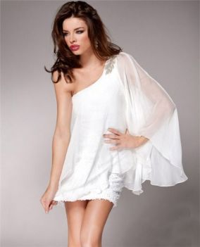 Amazing white short dresses ideas for party outfits 30