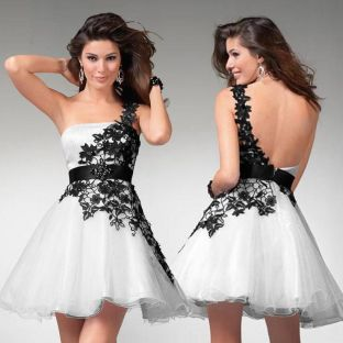 Amazing white short dresses ideas for party outfits 49