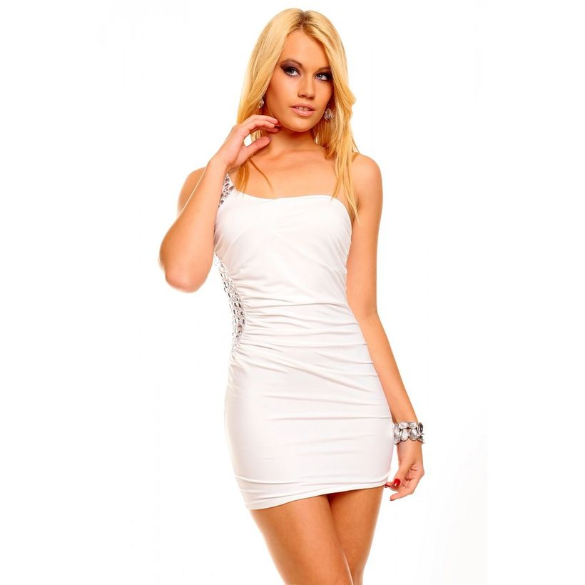 Amazing white short dresses ideas for party outfits 7