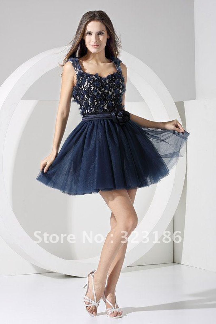 Awesome teens short dresses ideas for graduation outfits 148