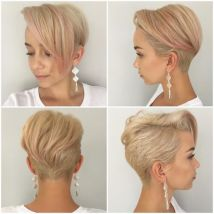 Cool short pixie blonde hairstyle ideas 118