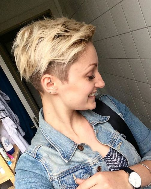 Cool short pixie blonde hairstyle ideas 144