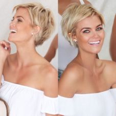 Cool short pixie blonde hairstyle ideas 53