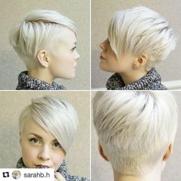 Cool short pixie blonde hairstyle ideas 64